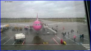 Aankomst Eindhoven Airport 24 december 2013