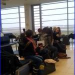 Zaterdag 21 december 2013 tevergeefs wachten op vliegtuig